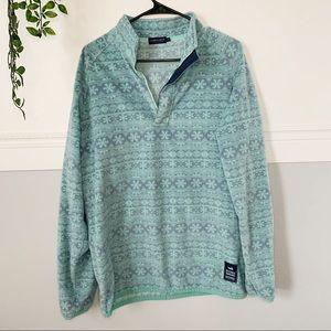 Men's Southern Marsh Print Fleece Pullover